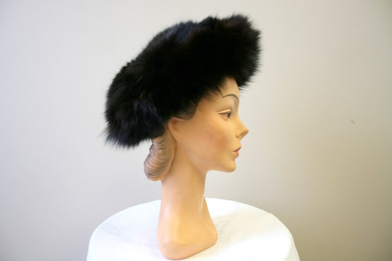 1960s Dark Brown Fur Hat - image 2