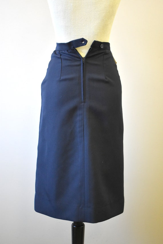 1970s NOS Black Western Style Skirt - image 6