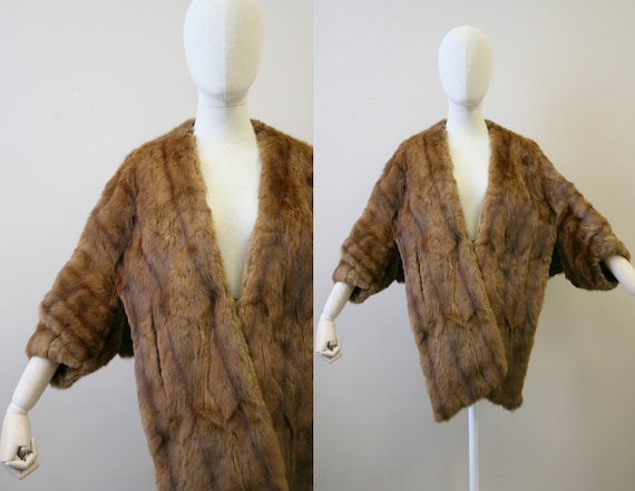 1940s/50s Fur Cape with Sleeves