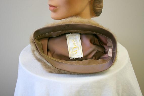 1960s Dece Blond Fur Hat - image 6