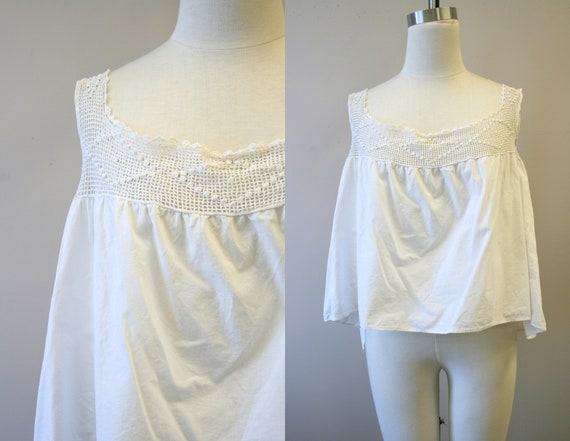 Victorian Cotton and Crochet Corset Cover