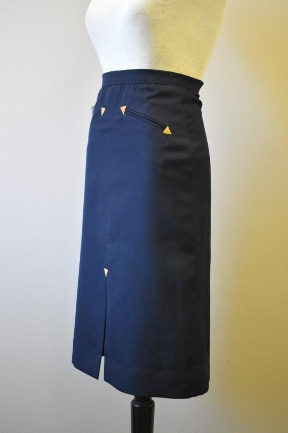 1970s NOS Black Western Style Skirt - image 5