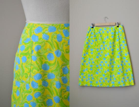 1960s Lilly Pulitzer Tulip Print Skirt