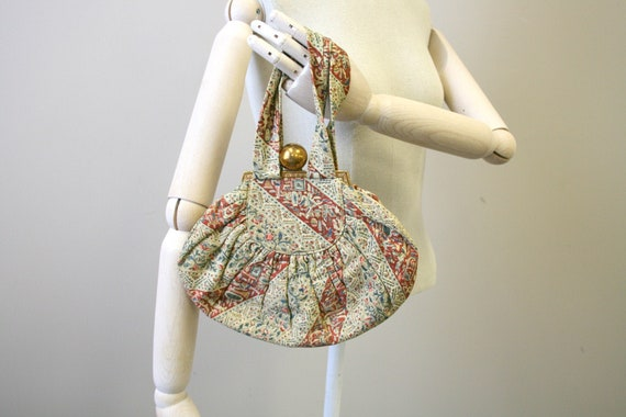 1940s Egyptian Print Handbag