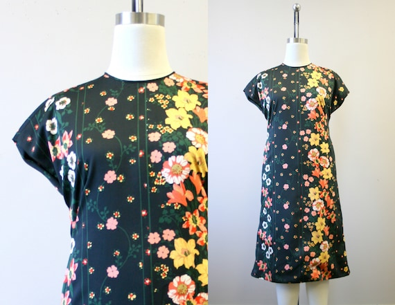 1960s Adele Simpson Floral Dress