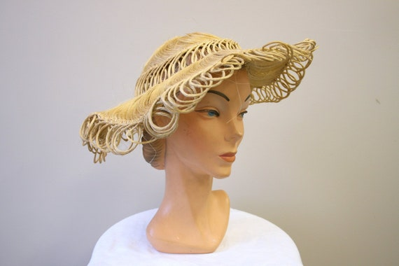 1940s Loopy Grass Sun Hat