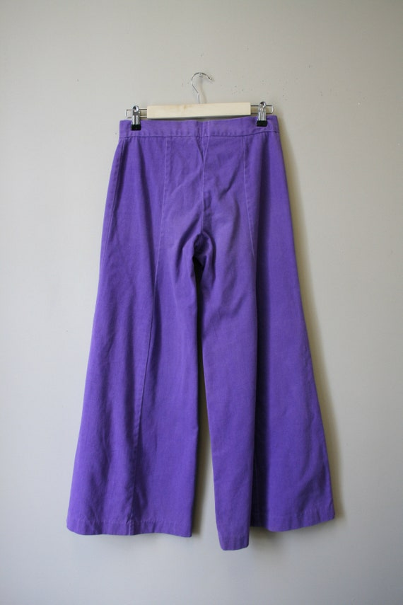 1970s Purple Denim Bell Bottoms - image 4