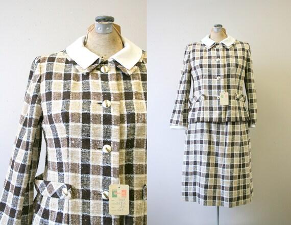 1960s NOS Davidow Plaid Skirt Suit
