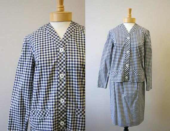 1960s Bill Atkinson Gingham Skirt Suit