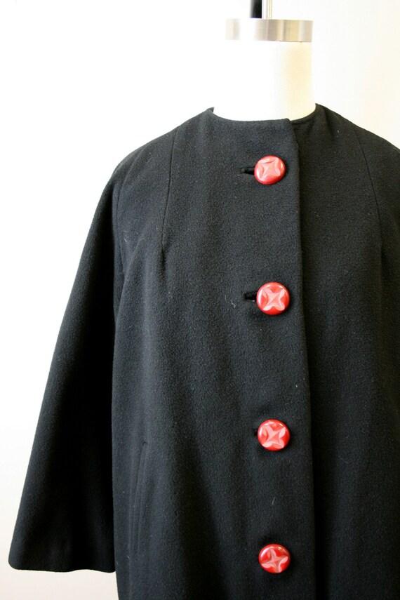 1950s Black Cashmere Coat - image 3