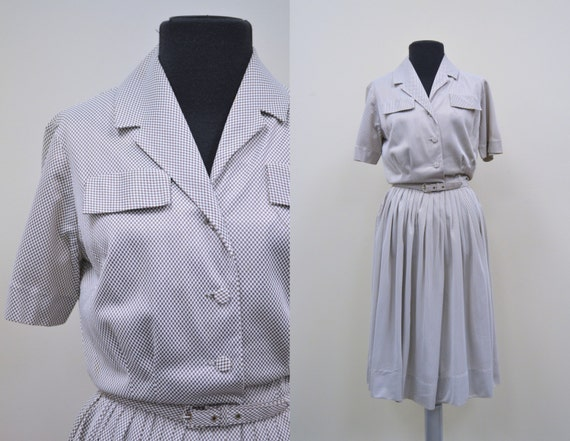 1950s Mr. Jack Checkered Swing Dress