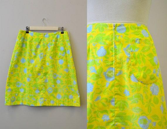 1960s Lilly Pulitzer Printed A-Line Skirt