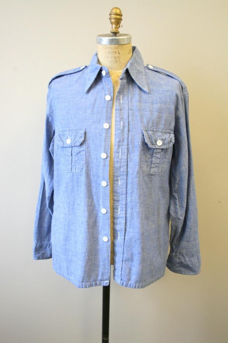 1970s Wrangler Chambray Shirt