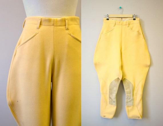 1940s/50s Yellow Wool Jodhpurs