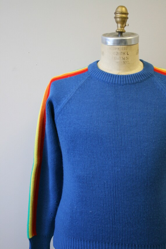 1970s Rainbow Stripe Sweater - image 3
