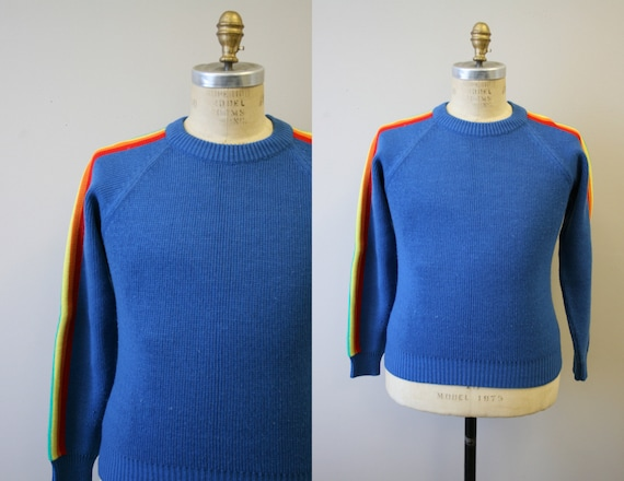 1970s Rainbow Stripe Sweater