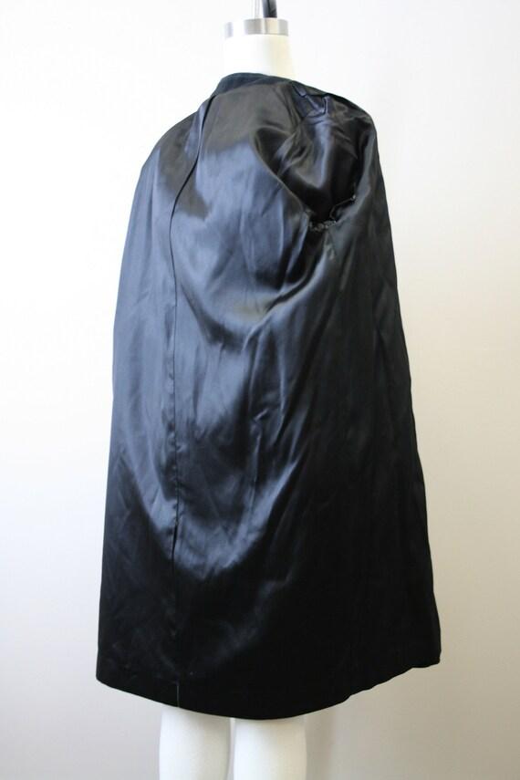 1950s Black Cashmere Coat - image 7