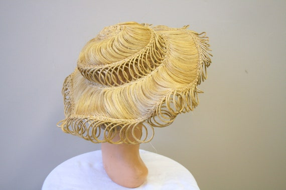 1940s Loopy Grass Sun Hat - image 2