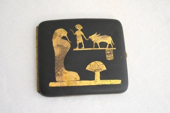 1920s Egyptian Revival Cigarette Case - image 1
