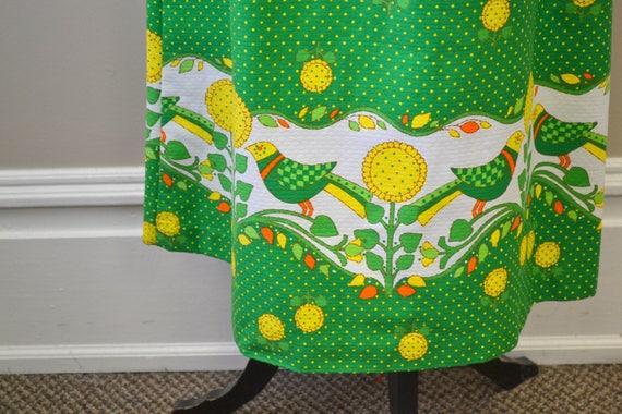 1960s Malia Bird and Sunflower Maxi Dress - image 4
