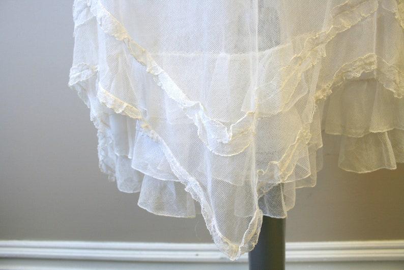 1900-1910s Cream Mesh Dress