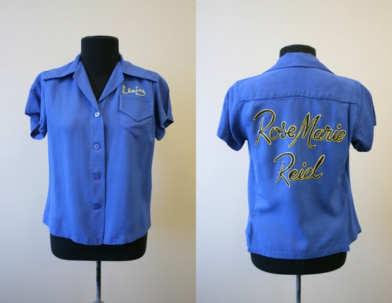 1950s Rose Marie Reid Rayon Uniform/Bowling Shirt