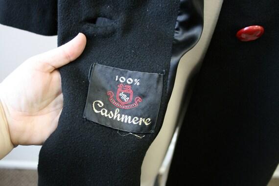 1950s Black Cashmere Coat - image 6
