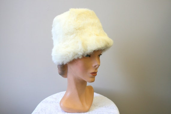 1960s White Rabbit Fur Hat
