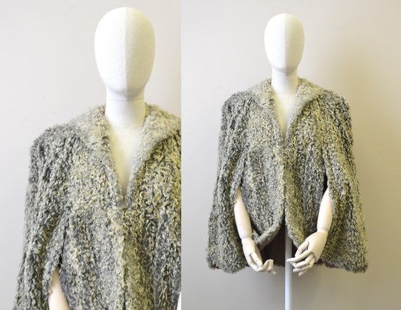 1940s Gray Persian Lamb Cape