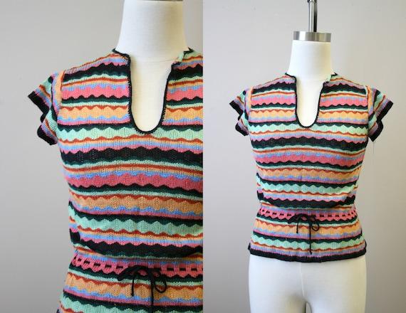 1970s Wavy Stripes Sweater