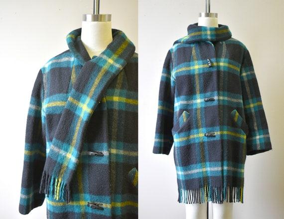 1950s Ayers Sport-Ease Wool Blanket Coat