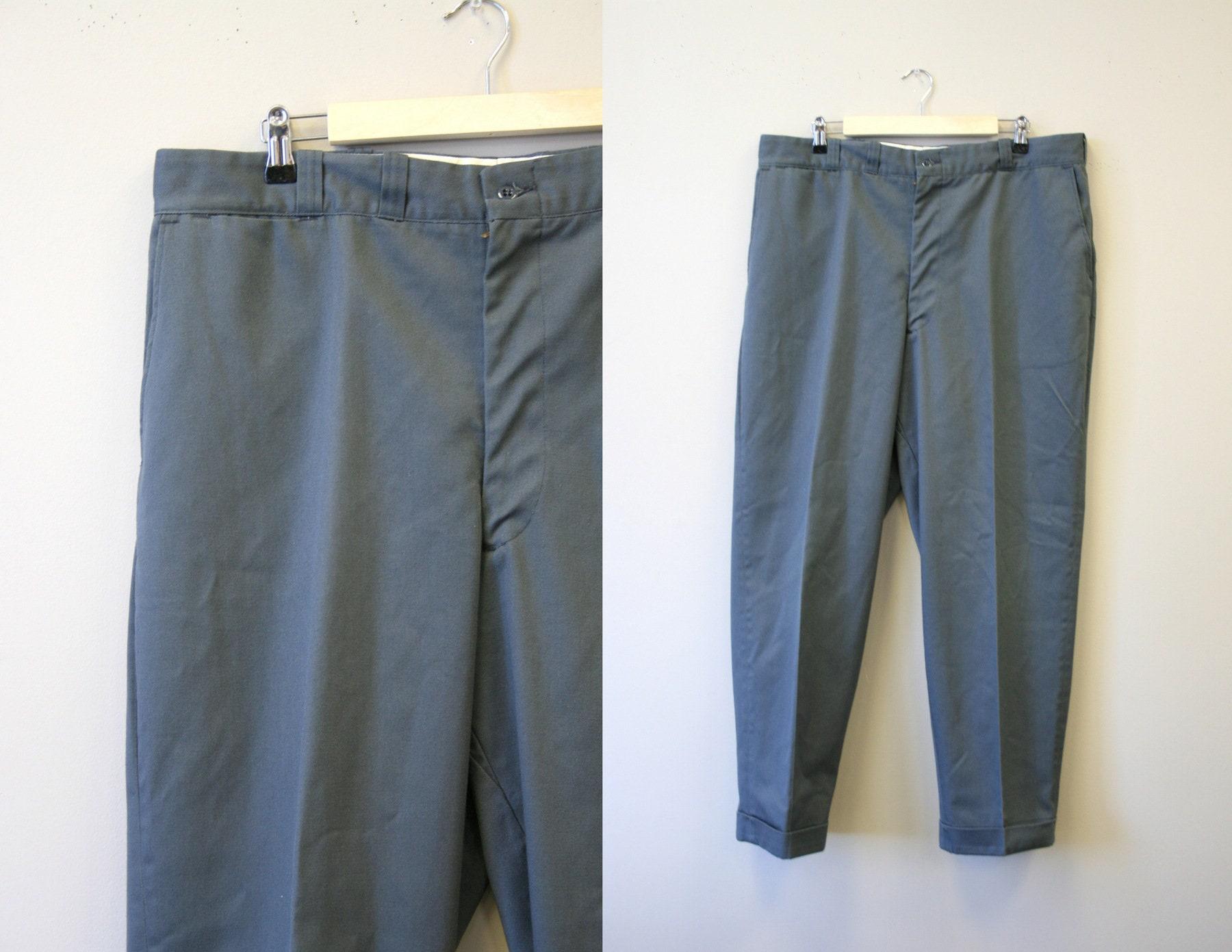 1960s – 70s Men's Ties | Skinny Ties, Slim Ties 1960S Big Mac Mens Gray Chino Cuffed Pants $68.00 AT vintagedancer.com