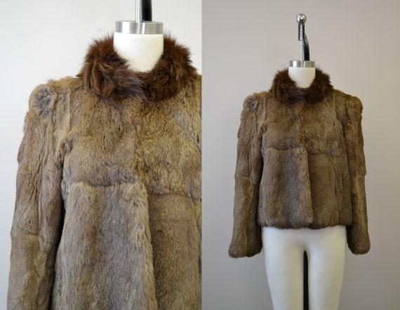 1970s Rabbit Fur Coat