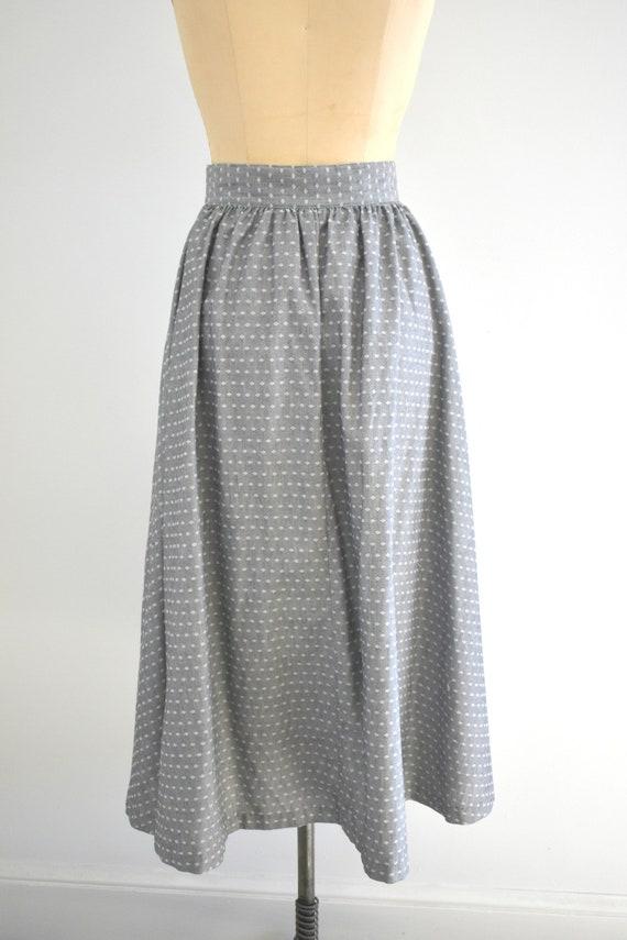 1980s Western Style Gray Midi Skirt - image 6