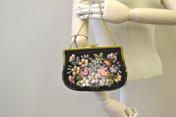 1930s Jolles Needlepoint Purse