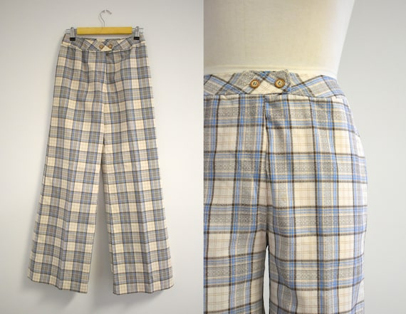 1970s Sears Plaid Wide Leg Pants