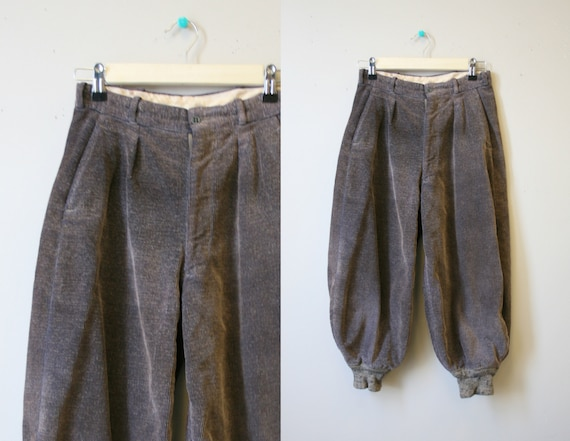 1930s/40s Teen Boys' Brown Corduroy Golf Knickers