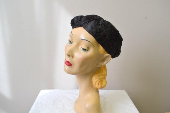 1930s Jean Patou Reproduction Satin Hat
