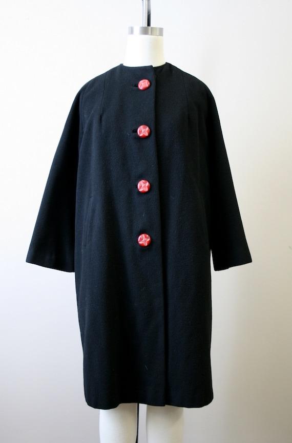 1950s Black Cashmere Coat - image 2