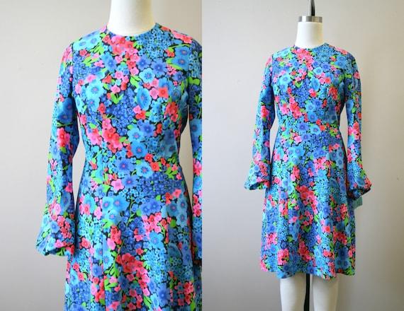 1970s Cherry Blossom Dress