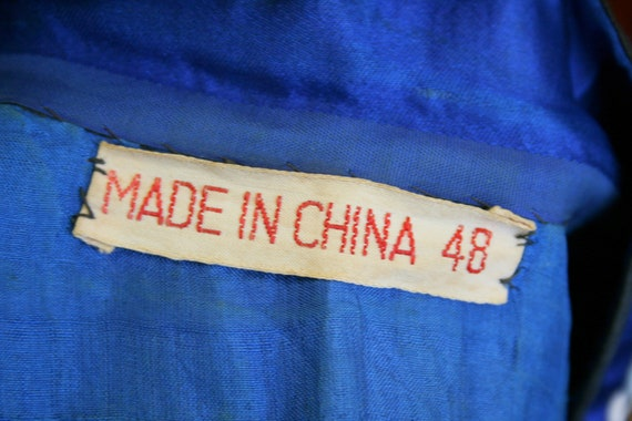 1930s Embroidered Chinese Blue Silk Jacket - image 10