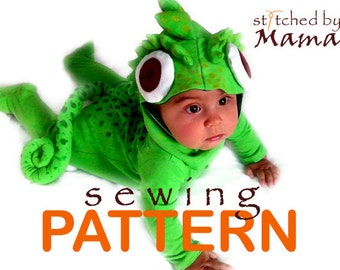 Sewing PATTERN - Tangled's Chameleon Pascal Inspired Baby Costume - sizes 6M to 24M- Read full description