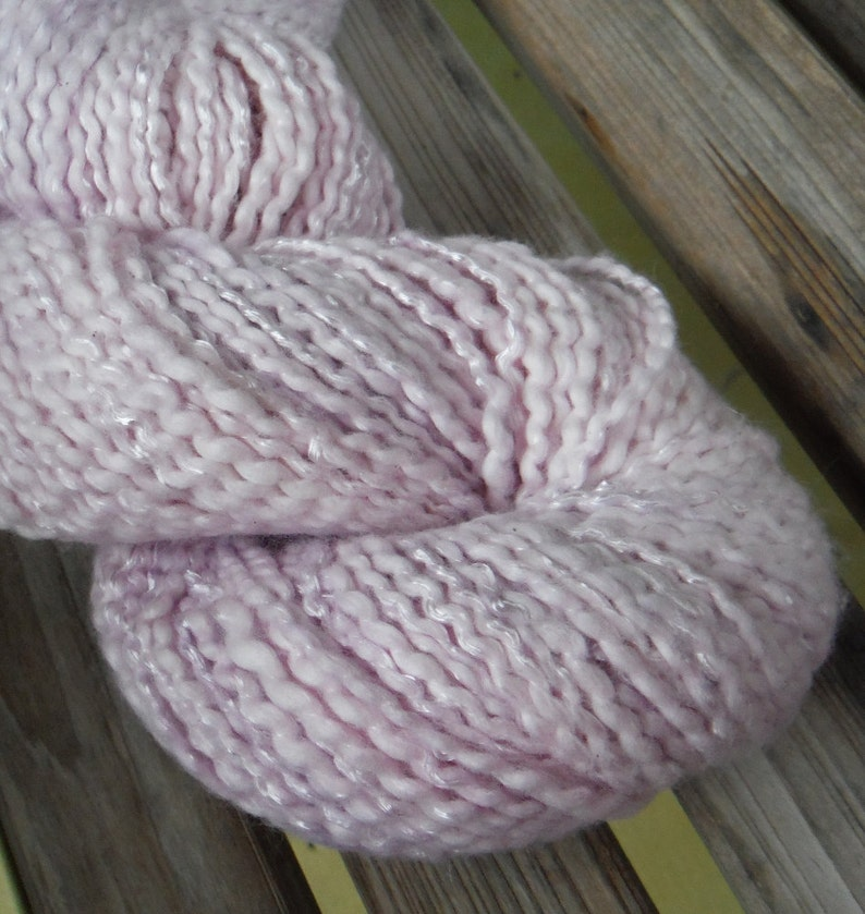 CHUNKY Weight Yarn Big 4 oz skeins 200 yards Cotton Blossom by Dixie Farmhouse Light Orchid Cotton Blend