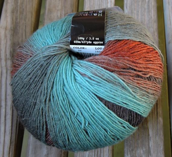 437 yards Sienna Mint Bronze Blue Grey SOCK Weight Green Brown Mint Happy Sheep Magic Sock 100g - Rust #20