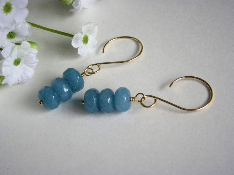 Sale, Natural Faceted Blue Aquamarine Gemstones, Gold Filled Earrings, Gold  Gemstone Earrings, Gemstone Earrings, March Birthstone, Silver