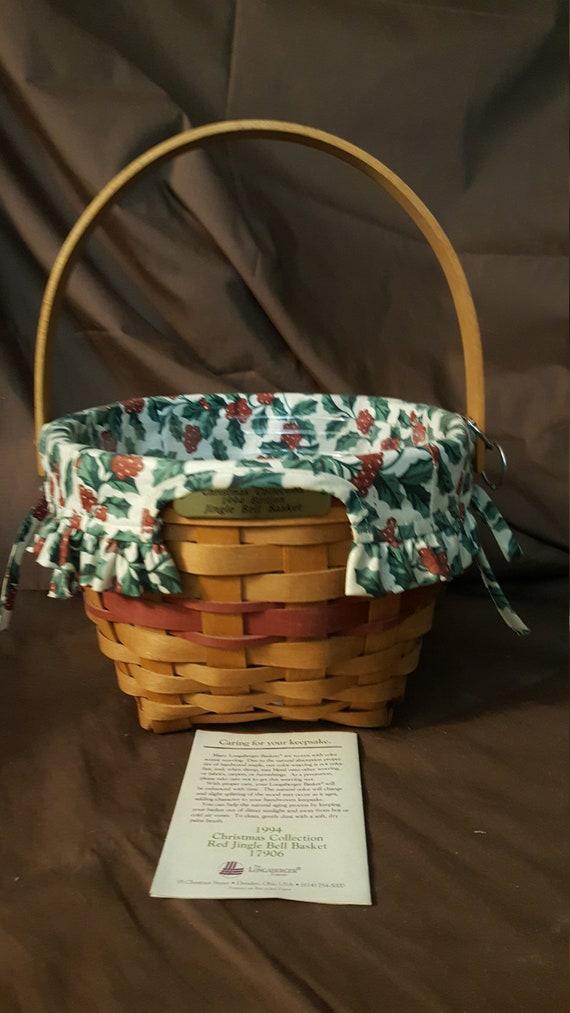 "Longaberger 13/"" Bowl  Basket Liner American Holly"