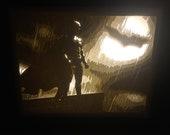Batman Light Box, the dark knight, batman, light, cut paper art, christopher nolan, christian bale, hero, dc comics