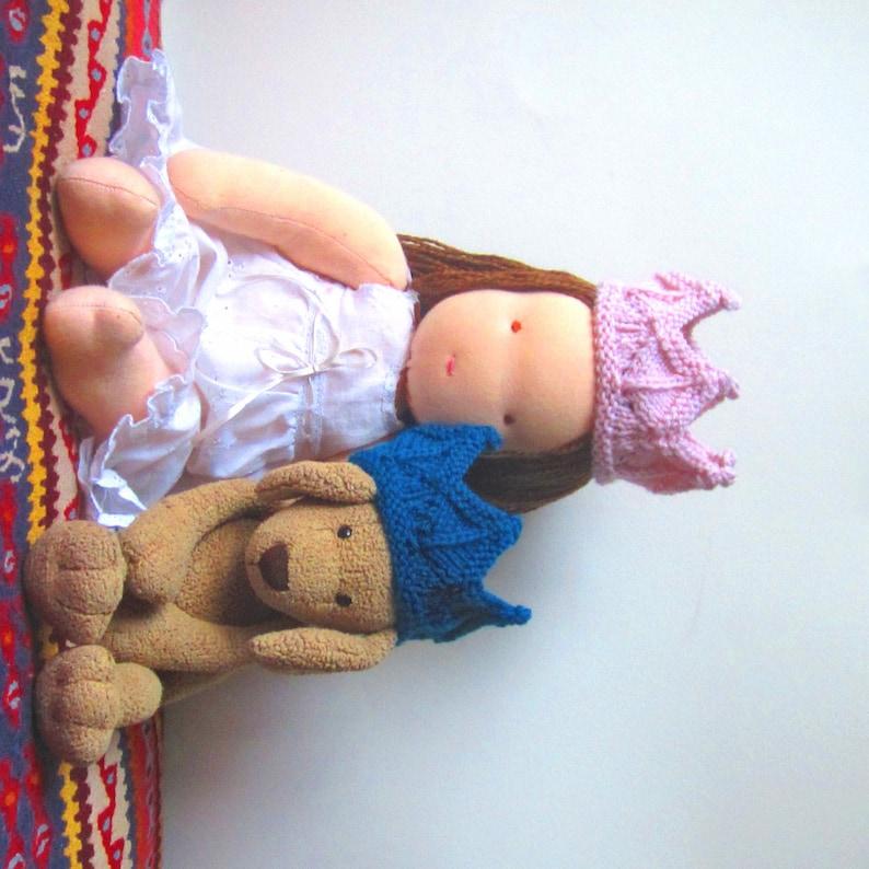 Lace Knit Crown Doll Headband Dress Up Pretend Play image 0