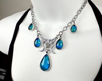 Glass Opal Victorian Gothic Fantasy Necklace
