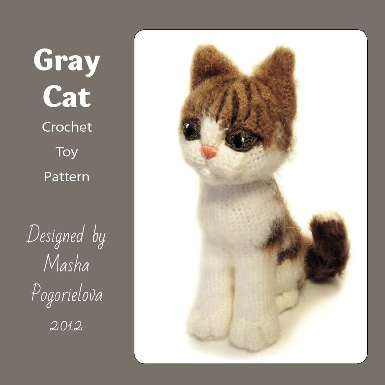Grey Cat pdf crochet toy pattern amigurumi kitten pattern | Etsy